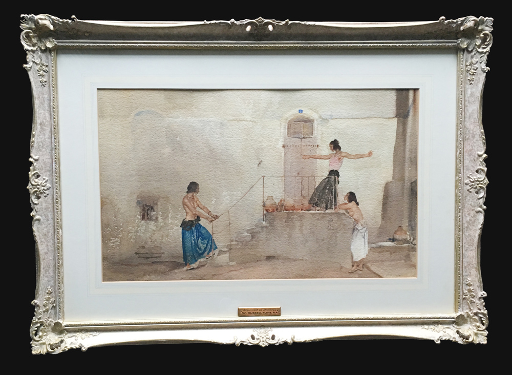 Sir William Russell Flint Original Painting Argument in Almeria