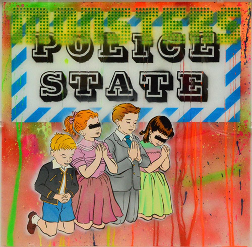 Ben Eine - Monsters, Police State