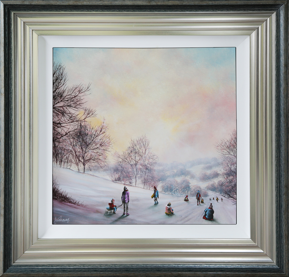 Danny Abrahams Original Painting Snow Days