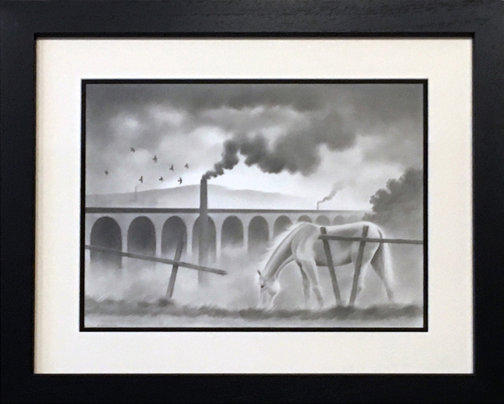 Dave Hartley Smokey in Stockport Original Drawing for Sale