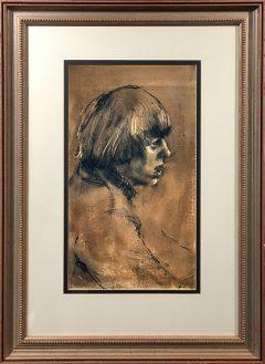 Harold Riley - Andre Previn Portrait
