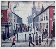 L S Lowry The Fever Van Signed Limited Edition Print