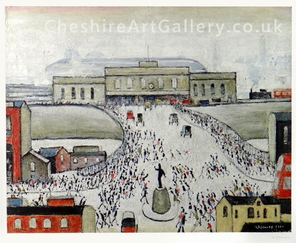 L S Lowry - Station Approach - Signed Limited Edition Print