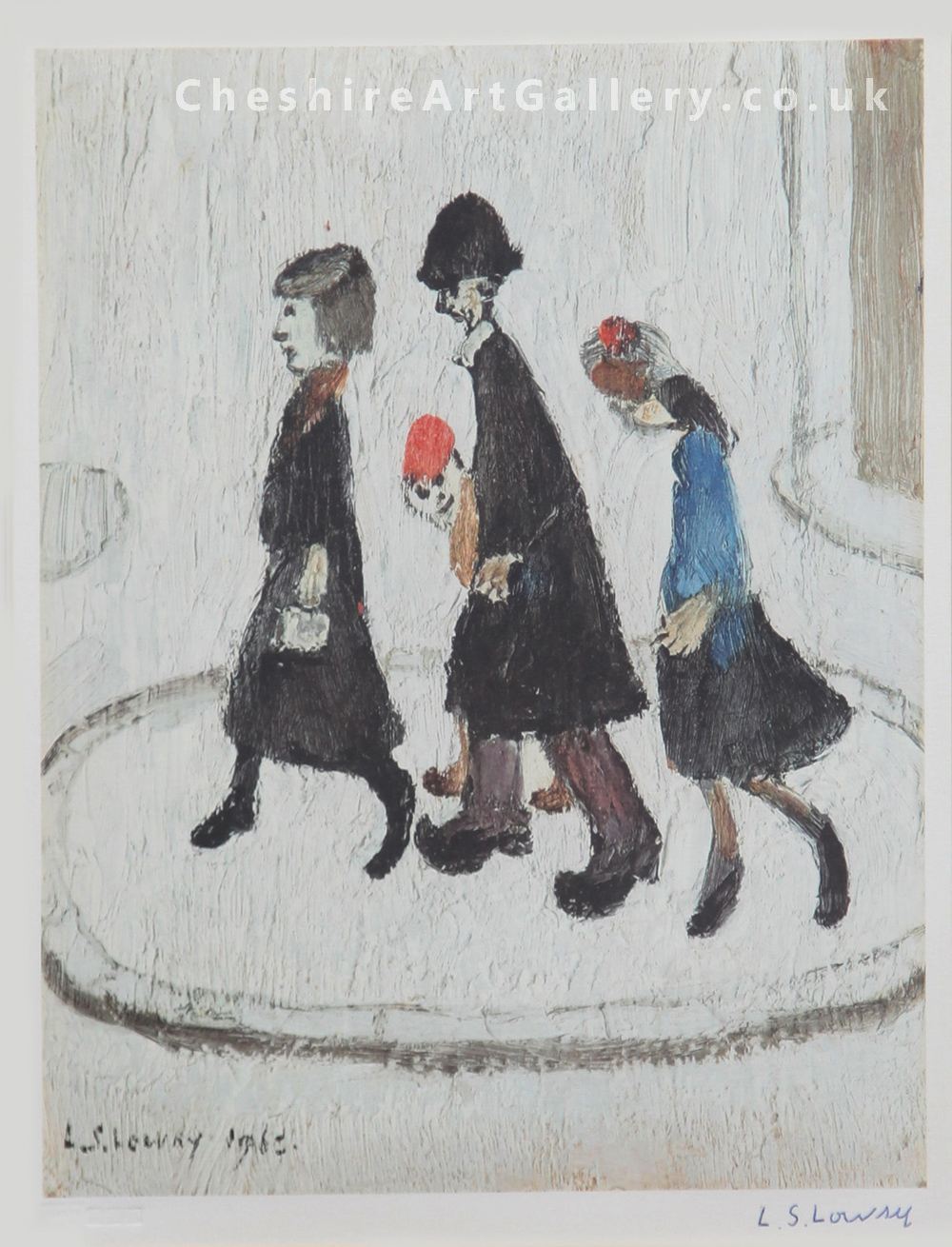 L S Lowry - The Family - Signed Limited Edition Print