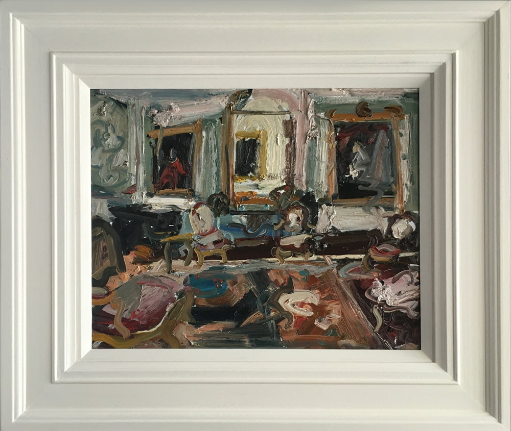 Richard Fitton Interior 1 Original Painting for Sale £1199
