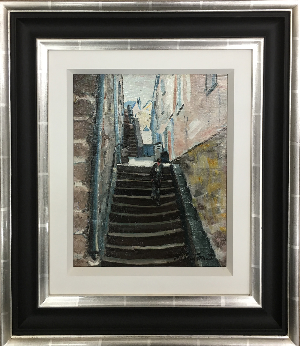 William Ralph Turner Steps Original Painting for Sale
