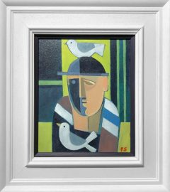 Peter Stanaway A Bird on the Head Original Painting for Sale