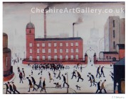 L S Lowry – Mill Scene – Signed Limited Edition Print