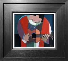 Peter Stanaway One Finger Guitar Original Painting for Sale