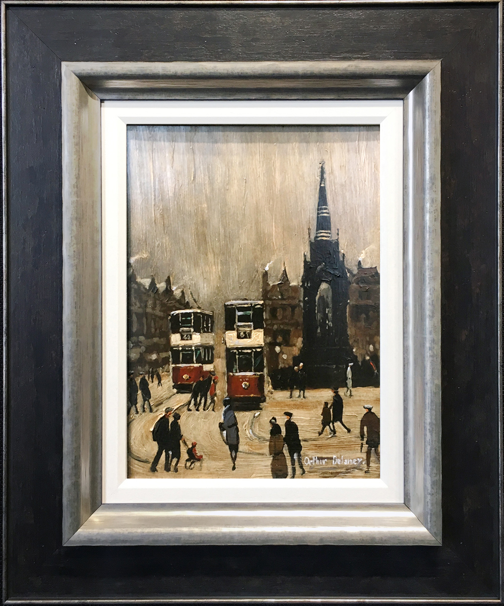 Arthur Delaney Albert Square Original Painting for sale