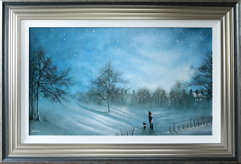 Danny Abrahams Original Painting Tiz the Season to be Freezing