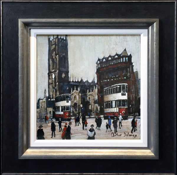Arthur Delaney Manchester Cathedral Original Painting for sale