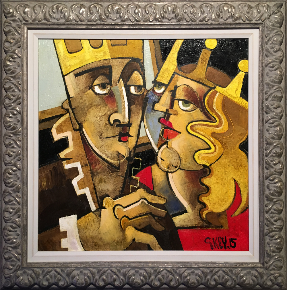 Geoffrey Key King & Queen II Original Oil Painting SOLD