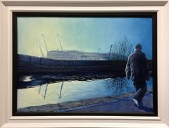Phil Ashley Man City Etihad Stadium Oil Painting