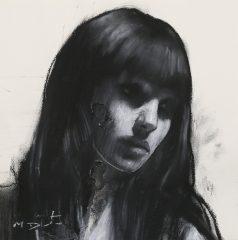 mark demsteader natalie head study original painting for sale