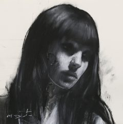 mark demsteader natalie head study original painting for sale