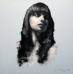 Mark Demsteader Natalie Head Study in Oil for sale at Cheshire Art Gallery