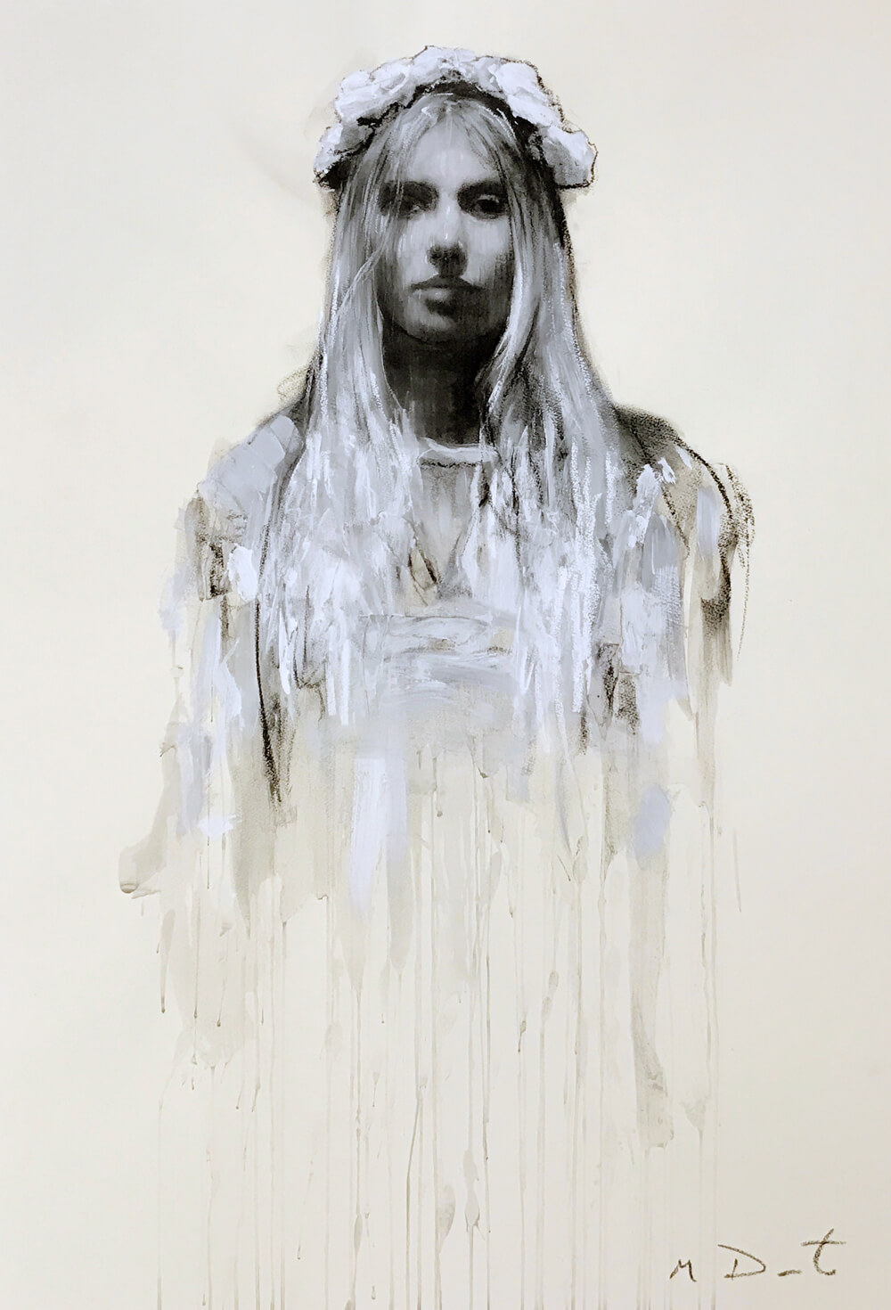 Mark Demsteader Ophelia Study on White for sale at cheshire art gallery