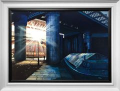 Phil Ashley Light through the darkness Castlefield Oil Painting