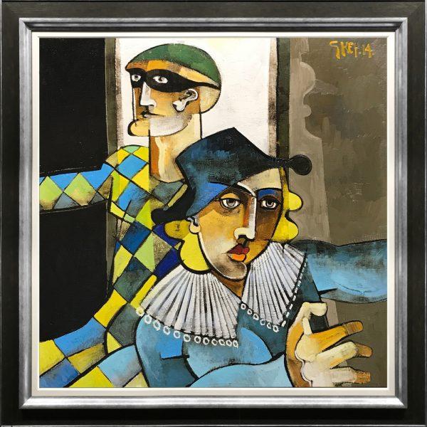 Geoffrey Key Harlequin and Columbine
