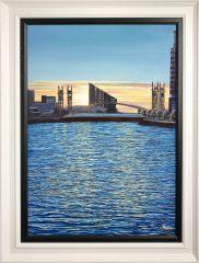 Phil Ashley Media City, Salford Oil Painting