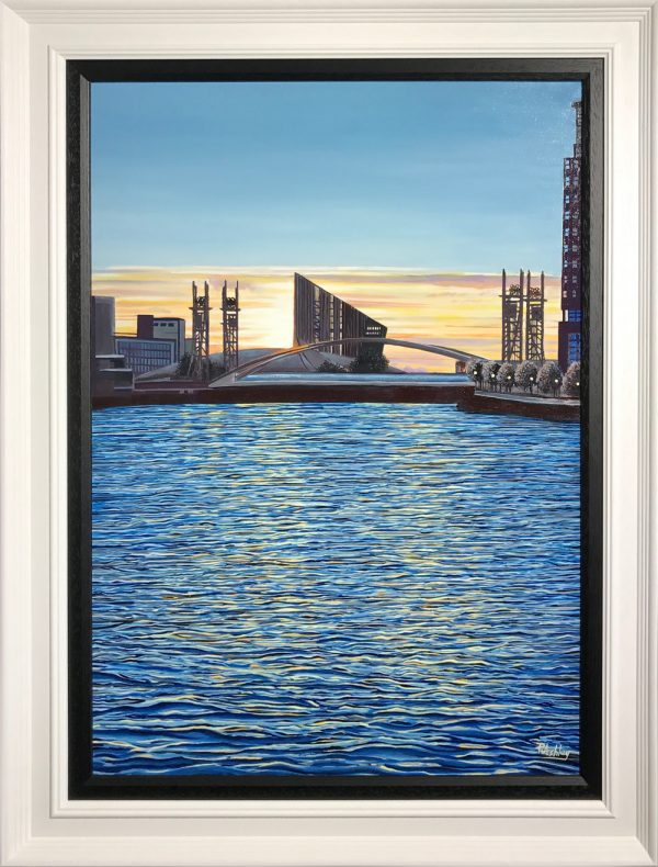 Phil Ashley Media City, Salford Oil Painting