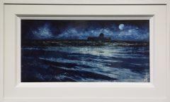 Dean Entwistle Porth Cwyfan Moonlit Tempera Painting