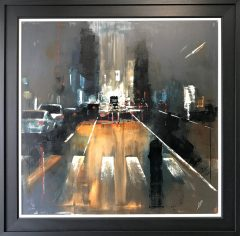 David Coulter Deansgate at Night Original Painting