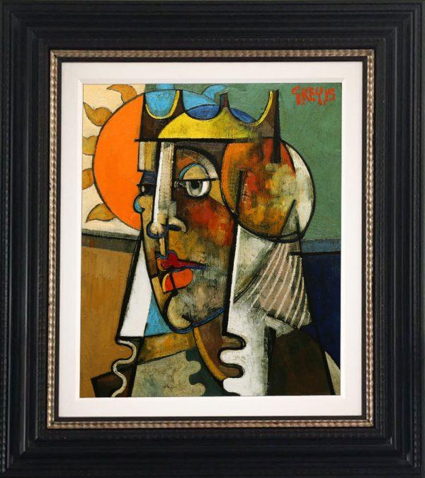 Geoffrey Key Queen & Sun Original Oil Painting SOLD