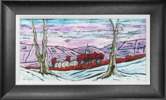 Steve Capper Northern Church Original Painting for Sale