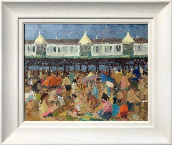 Adam Ralston A Day at the Beach Original Painting