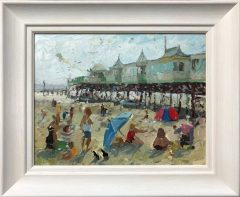 Adam Ralston A Windy Day at St Annes Pier Original Painting