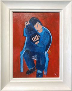 Peter Stanaway He Played Real Good for Free Original Painting for Sale