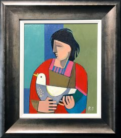 Peter Stanaway My Ladys a Wild Flying Dove Original Painting for Sale