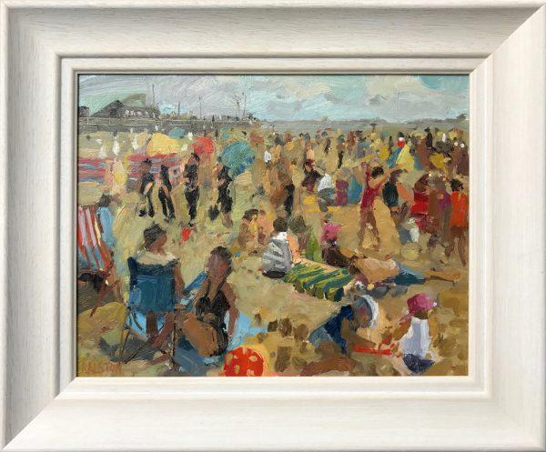 Adam Ralston Police Patrol, St Anne's Beach Original Painting