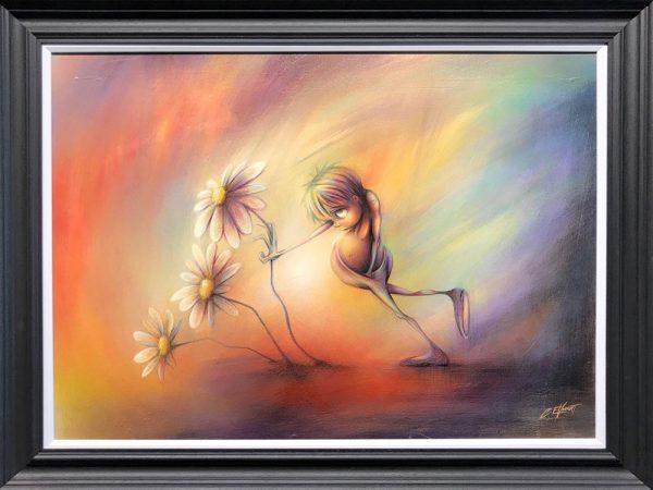 Rourke Van Dal Pushing Daisies Original Painting for Sale