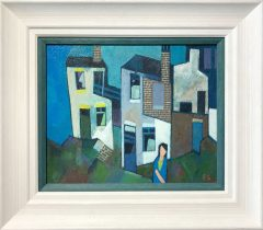 Peter Stanaway Grandma Lived at Number 5 Original Painting for Sale