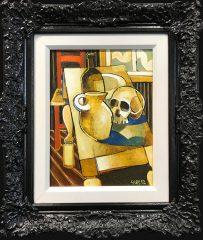 Geoffrey Key Skull with Window Original Oil Painting