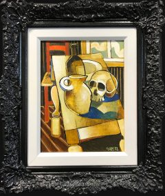 Geoffrey Key Skull with Window Original Oil Painting