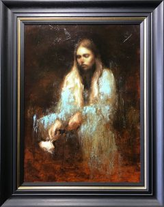 Mark Demsteader Study for Ophelia Blue Original Oil Painting