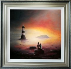 Danny Abrahams Original Painting Love on the Rocks Anglesey