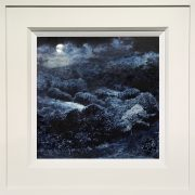 Dean Entwistle The Glade Cheshire Moonlit Tempera Painting