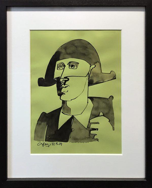 Geoffrey Key Harlequin Mixed Media Painting