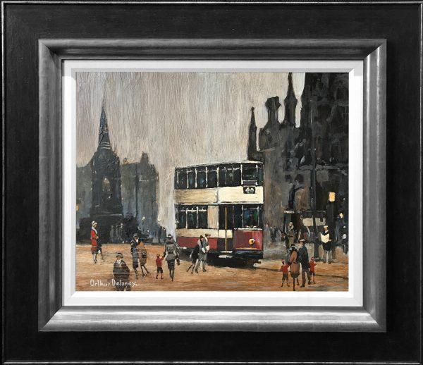 Arthur Delaney Albert Square Manchester Original Painting for sale