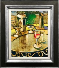 Geoffrey Key Table Reflections Original Oil Painting for Sale