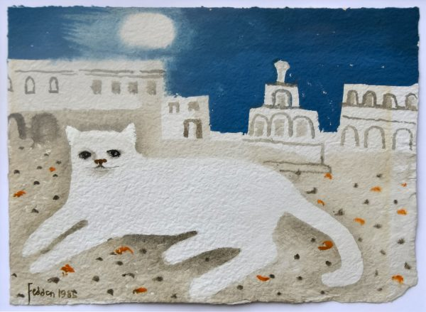 Mary Fedden The White Cat Original Painting