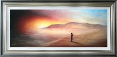 Danny Abrahams Original Painting I Love You (Deganwy Beach)
