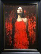 Mark Demsteader Alana in Red Original Oil Painting