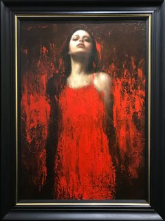 Mark Demsteader Alana in Red Original Oil Painting