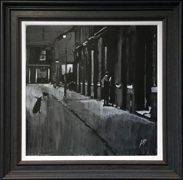 David Coulter Salford Street Scene Original Painting for sale